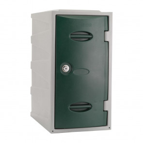 Extreme Plastic Single Door Locker Camlock Green 600mm