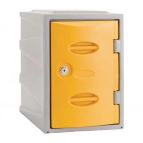 Extreme Plastic Single Door Locker Camlock Yellow 450mm