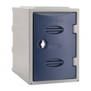Extreme Plastic Single Door Locker Hasp and Staple Lock Blue 450mm