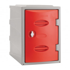Extreme Plastic Single Door Locker Hasp and Staple Lock Red 450mm