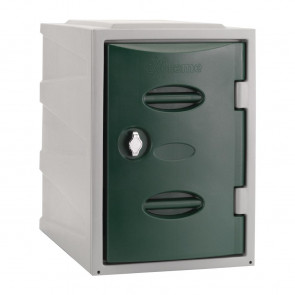 Extreme Plastic Single Door Locker Hasp and Staple Lock Green 450mm
