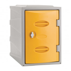 Extreme Plastic Single Door Locker Hasp and Staple Lock Yellow 450mm