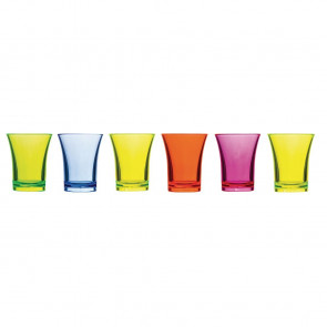 Polystyrene Mixed Colour Shot Glasses 25ml CE Marked
