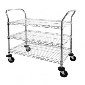 Vogue Chrome 3 Tier Wire Trolley