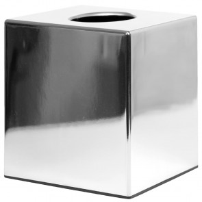 Chrome Cube Tissue Holder