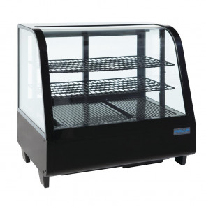 Polar Chilled Food Display 100Ltr Black