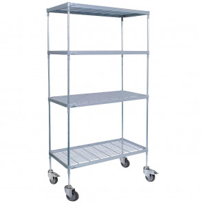 Craven 4 Tier Nylon Coated Wire Shelving with Pads  1825x875x491mm