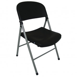 Bolero Foldaway Utility Chairs Black (Pack of 2)