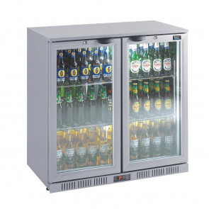 Lec Back Bar Bottle Cooler Hinged Doors 180 Bottles