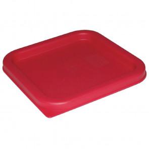 Vogue Square Lid Red Medium