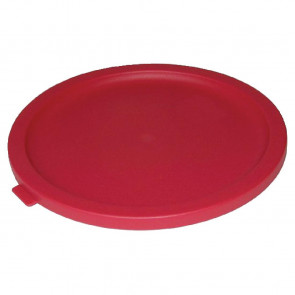 Vogue Round Lid For 6 to 7.5Ltr Containers Red