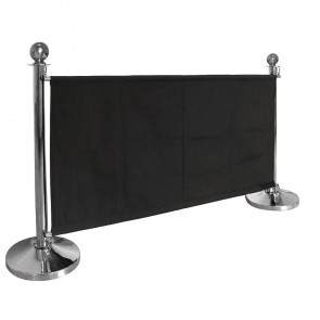Bolero Black Canvas Barrier