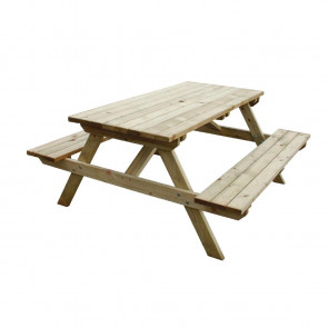 Wooden Picnic Bench 5ft