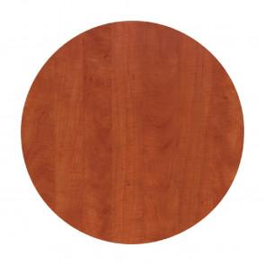 Werzalit Round Table Top Wild Pear Cognac 600mm