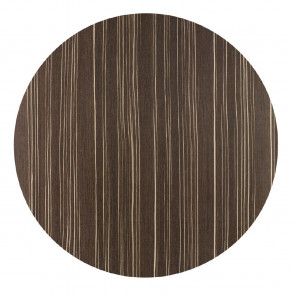 Werzalit Round Table Top Safari Brown 600mm