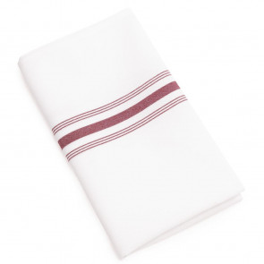 Bistro Table Napkins Burgundy Stripe