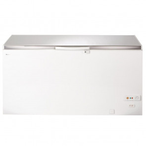 Lec White Chest Freezer with Stainless Steel Lid 490Ltr