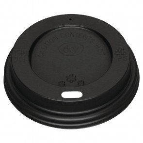 Fiesta Black Lid for Coffee Cups 8oz 50 Pack