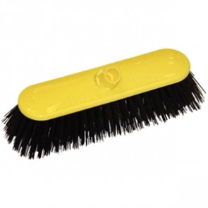 SYR Contract Broom Head Stiff Bristle Yellow 10.5in