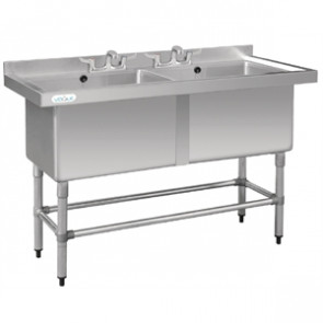 Double Deep Pot Sink - 1410mm x 600mm