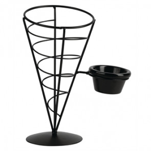 Chip Cone Holder with Ramekin Holder