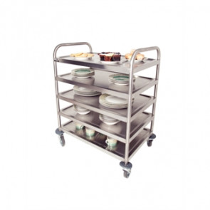 Craven 5 Level General Purpose And Cleaning Trolley With Brakes