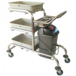 Craven Three Tier Epoxy Coated Bussing Trolley