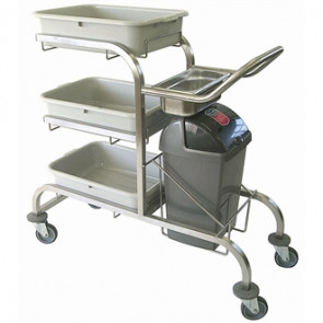 Craven Three Tier Stainless Steel Bussing Trolley