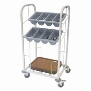 Craven Two Tier Cutlery & Tray Dispense Trolley