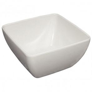 """Curved White Melamine Bowl 8"""""""