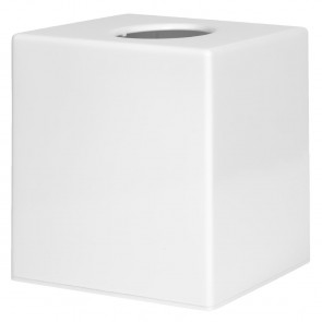 White Cube Tissue Holder