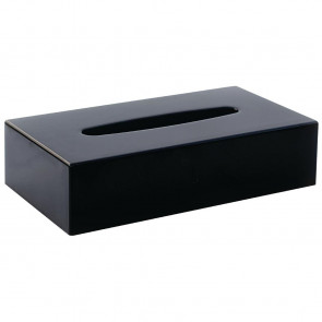 Black Rectangular Tissue Holder