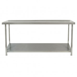 Parry Fully Welded Stainless Steel Centre Table with Undershelf 600x600mm