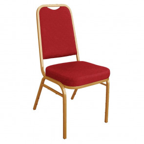 Bolero Squared Back Banquet Chair Red (Pack of 4)