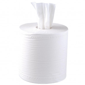 Jantex Centrefeed White Roll 2ply 6 Pack