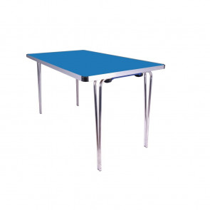 Gopak Contour Folding Table Blue 4ft