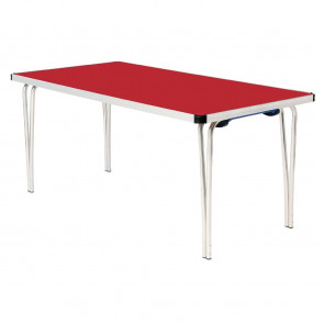 Gopak Contour Folding Table Red 6ft