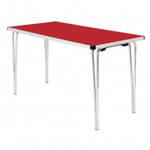 Gopak Contour Folding Table Red 4ft
