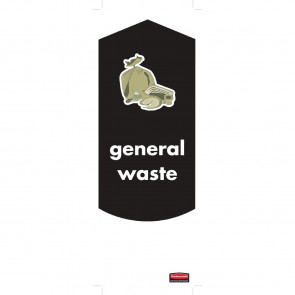 Rubbermaid General Waste Stickers