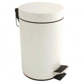 Bolero White Pedal Bin 3Ltr