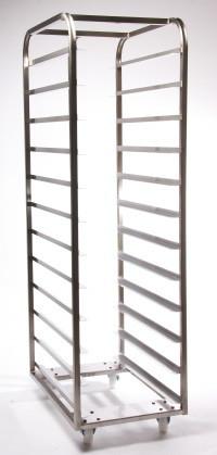 14 Shelf Bakery Rack 762 x 457 + Backstop Mild Steel BZP