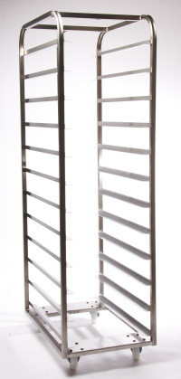 16 Shelf Bakery Rack 600x400 + Backstop Mild Steel BZP