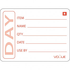 Vogue Prepped Product Removable Labels