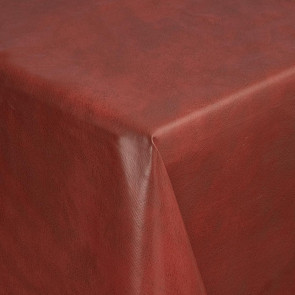 PVC Marble Tablecloth Red 54in