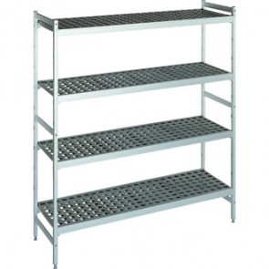 Fermod Shelving Set With 2 Ends And 4 Shelves 1200x 460x 1685mm