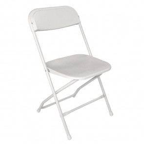 Bolero Folding Chair White (Pack of 10)