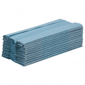 Jantex C Fold Hand Towels Blue