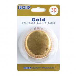 PME Cupcake Baking Cases Gold