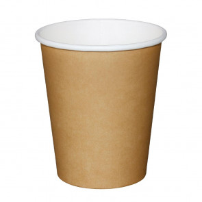 Fiesta Disposable Brown Hot Cups 225ml x50