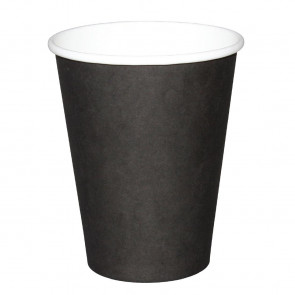 Fiesta Disposable Black Hot Cups 225ml x50